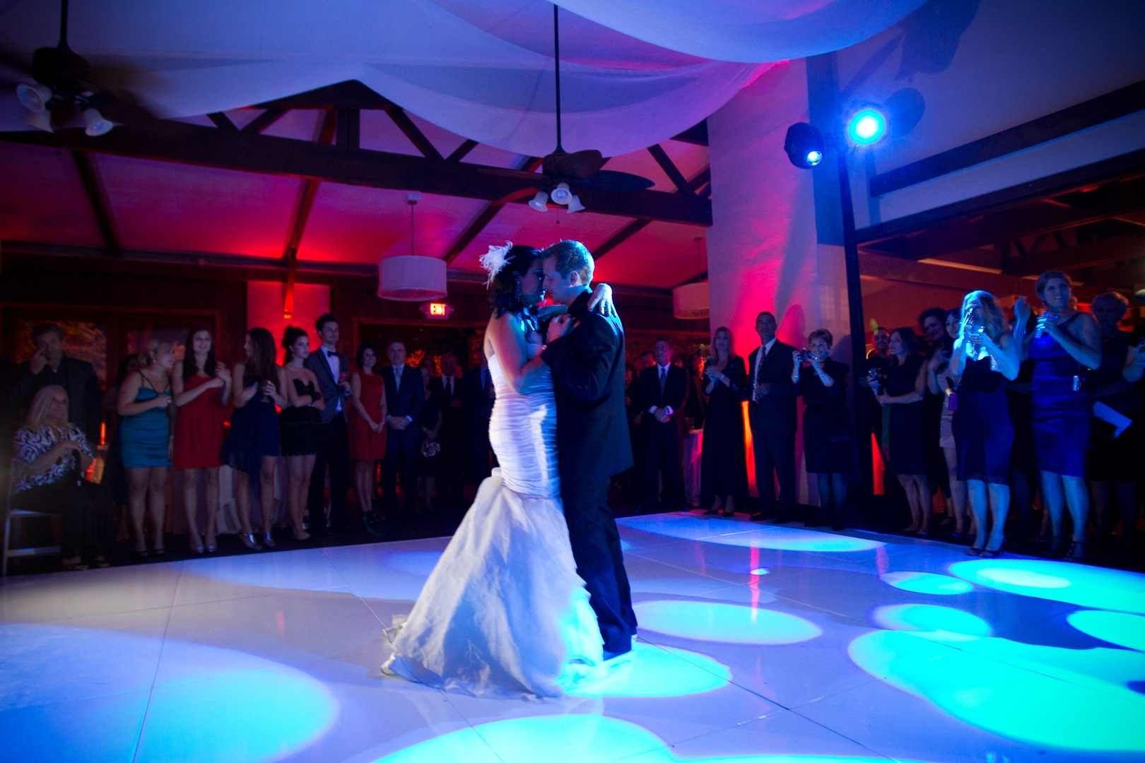 Danse romantique des mariés